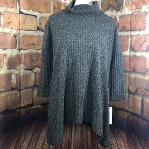 Sonoma MED charcoal turtleneck sweater NWT